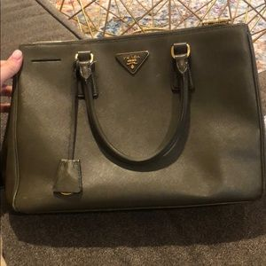 Prada olive green saffiano authentic